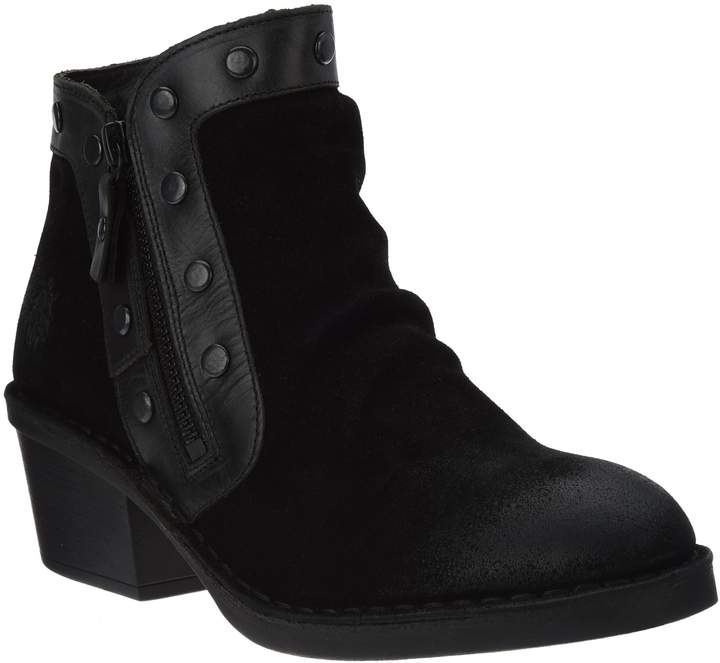 Fly London Suede Ankle Boots w/Stud Details - Duke
