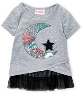 Flapdoodles Girls 4-6x) Celestial Wrap Tulle Top