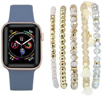 Posh Tech Patent Leather Apple Watch Replacement Band & Bracelet Bundle