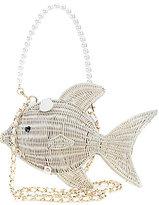 Betsey Johnson Gone Fishin' Wicker Cross-Body Bag