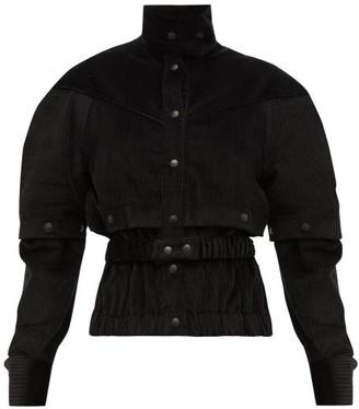 Symonds Pearmain - Press-stud Sleeve Cotton-corduroy Jacket - Womens - Black
