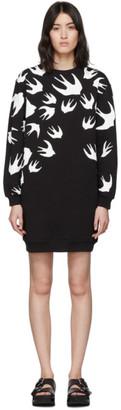 McQ Black Swallow Sweatshirt Dress