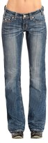Rock & Roll Cowgirl Rose Rhinestone Riding Jeans - Bootcut (For Women)