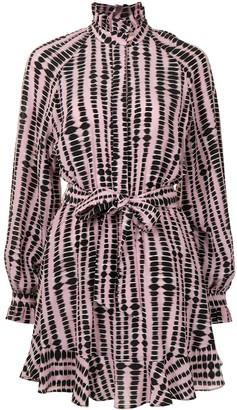 Rebecca Vallance Samir ruffled belted dress