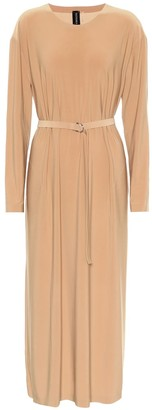 Norma Kamali Boyfriend stretch-jersey midi dress