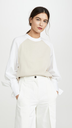 ADEAM Bow Cuff Sweater