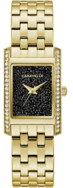 Caravelle Women's Gold-Tone Stainless Steel Bracelet Watch 21x33mm