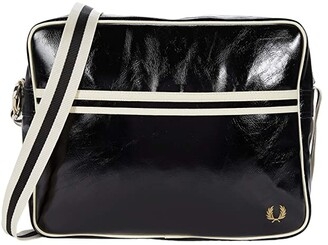 Fred Perry Classic Shoulder Bag (Black/Ecru) Handbags