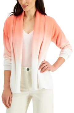Style&Co. Style & Co Cotton Dip-Dyed Cardigan, Created for Macy's