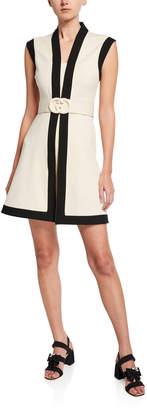 Gucci Belted Sleeveless Shift Dress