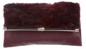 Diane von Furstenberg Fur-Trimmed 440 Envelope Clutch