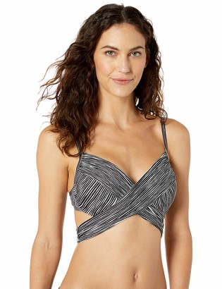 La Blanca Women's Wrap Underwire Bra Bikini Top