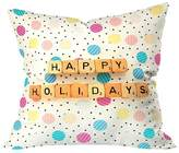 """Deny Designs Happy Holiday Baubles Throw Pillow (20""""x20"""