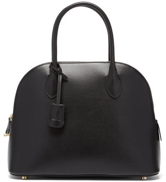 The Row Lady Leather Handbag And Pouch - Black