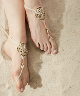 Faux Shell & Cream Barefoot Sandal