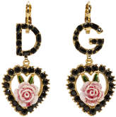Dolce & Gabbana Black Heart Earrings