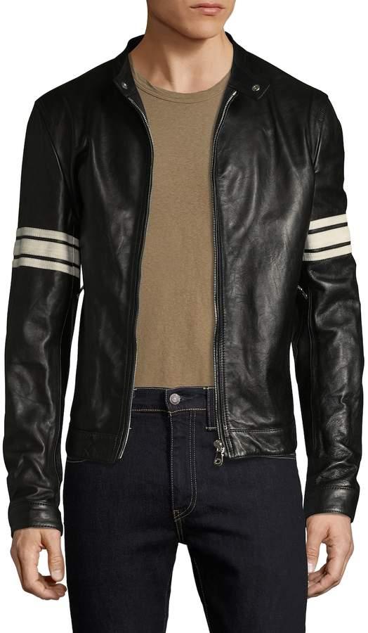 Dolce & Gabbana Men's Solid Moto Jacket