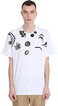 Marni T-shirt In White Cotton