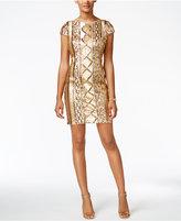 Adrianna Papell Petite Sequin Sheath Dress