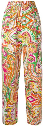 Moschino Pre-Owned printed straight-leg trousers