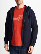 John Lewis Cotton Full Zip Jumper, Navy