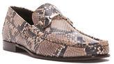 Donald J Pliner Bone Pit Snake Leather Moc Loafers