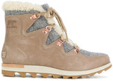 Sorel shearling mountain boots