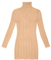 Gucci Lace-effect cashmere and silk-blend sweater