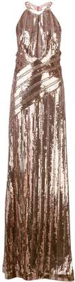 Galvan flared sequin gown