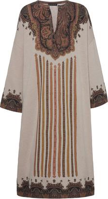 Etro Printed Wool-Blend Dress