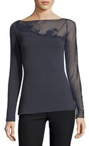 Bailey 44 Haunting of Turner Mesh Top with Mesh Lace