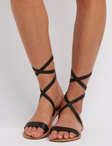 Charlotte Russe Strappy Ankle Wrap Sandals