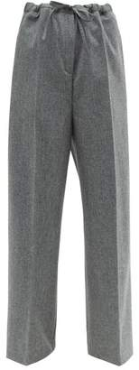 Jil Sander Felted Wool-blend Trousers - Womens - Grey