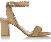 Tabitha Simmons Leticia Perforated Suede Sandals