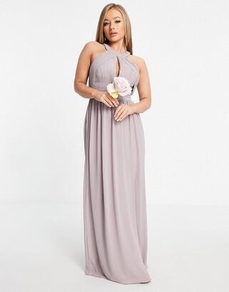 TFNC Bridesmaid multiway maxi dress in light grey