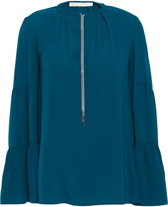 MICHAEL Michael Kors Chain-detailed Stretch-crepe Blouse