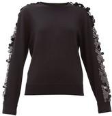 Bella Freud Lady Day Sequinned Wool Sweater - Womens - Black