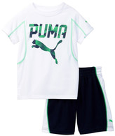Puma Graphic Tee & Short Set (Little Boys)
