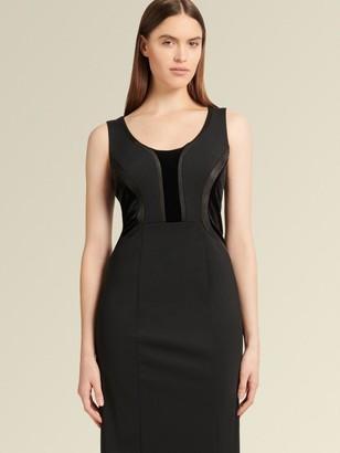 DKNY Sleeveless Dress With Velvet Panels