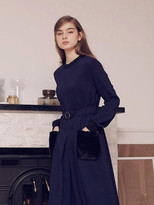 Wardrobe Fur Pocket Dress_navy