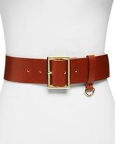 Frame D-Ring Leather Belt