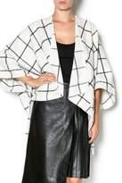 Double Zero Oversize Grid Jacket