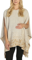 Beige & Gold Dot Maternity Poncho