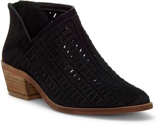 Vince Camuto Women's Casual boots BLACK - Black Pekkan Cutout Suede Bootie - Women