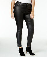 mblm by Tess Holliday Trendy Plus Size Faux-Leather Pants