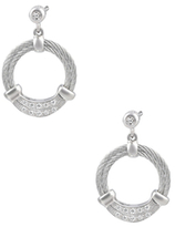 Alor Stainless Steel with Diamond Earrings
