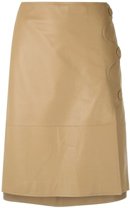 Egrey Leather Straight Skirt