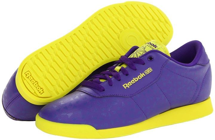 Reebok Princess Splitz (Ultra Violet/Solar Green) - Footwear