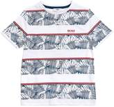 HUGO BOSS Striped Hawaiian Cotton Jersey T-Shirt