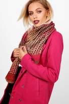 boohoo Amelia Rainbow Knitted Scarf